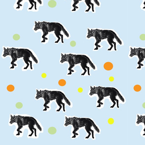 Wolf and dots