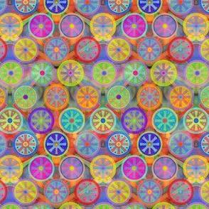 Multicolor Cogflowers on Multicolor