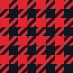 Gingham RED & BLK one