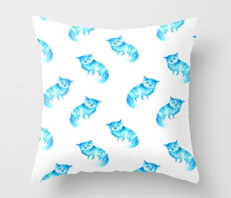 Blue melancholic cat