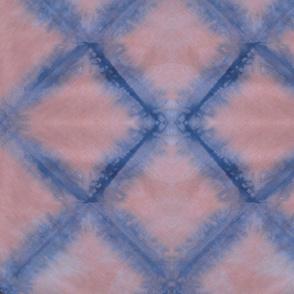 Pink and Navy Diamond Shibori