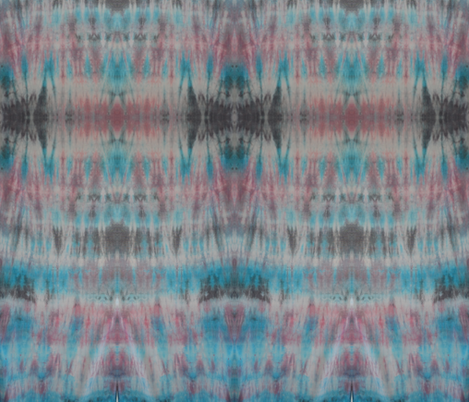 Blue pink and Black Tie Dye fabric by gates_and_gables on Spoonflower - custom fabric