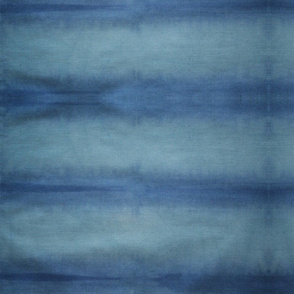 Teal Navy Shibori Stripe
