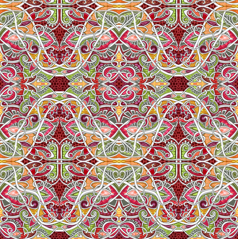 Bright Autumn Afternoon  fabric by edsel2084 on Spoonflower - custom fabric