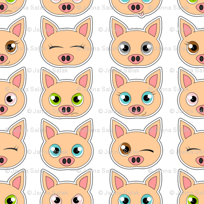 Cute Pig Expressions
