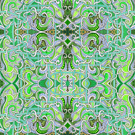 My Green and Alien Planet fabric by edsel2084 on Spoonflower - custom fabric