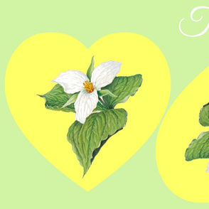 TRILLIUM HEART PILLOWS