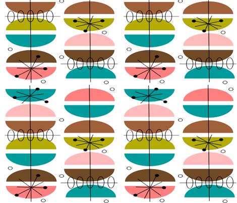 Mid-Century Modern, Atomic Inspired fabric by hot4tees_bg@yahoo_com on Spoonflower - custom fabric