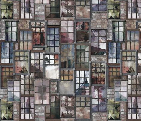 City_Windows_Ser. 2 #2 fabric by lulutigs on Spoonflower - custom fabric