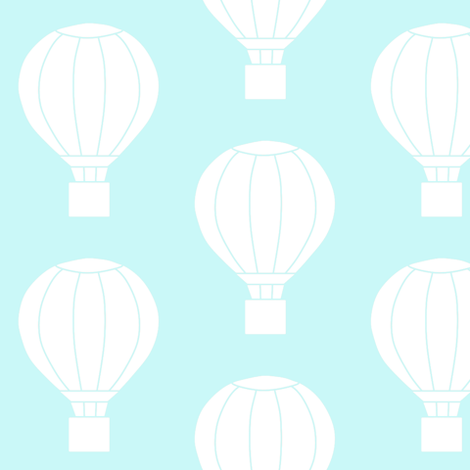 Up and Away Light Blue fabric by ajoyfulriot on Spoonflower - custom fabric