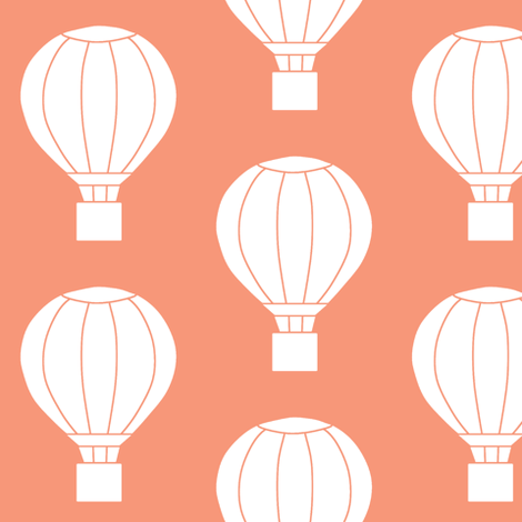 Up and Away Light Coral fabric by ajoyfulriot on Spoonflower - custom fabric
