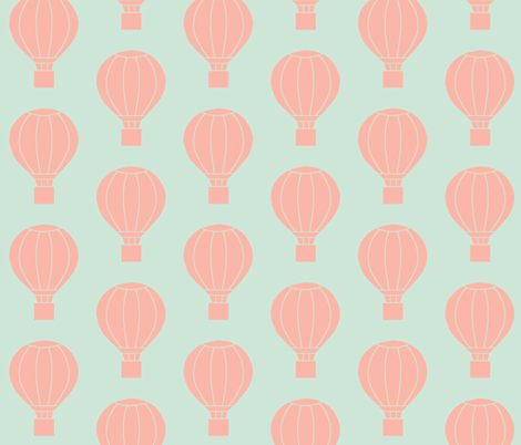 Up and Away Blush and Mint fabric by ajoyfulriot on Spoonflower - custom fabric