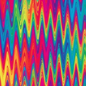 rainbow single zigzag