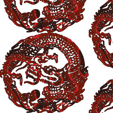 dragon chinese fabric by craftyscientists on Spoonflower - custom fabric