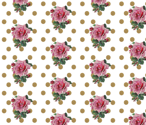 Vintage Rose fabric by ajoyfulriot on Spoonflower - custom fabric