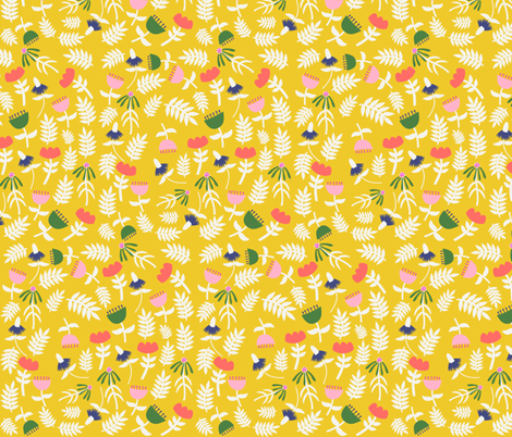 All Flowers (canary) fabric by heidikenney on Spoonflower - custom fabric