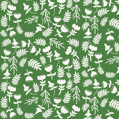 Solid Flowers (grass) fabric by heidikenney on Spoonflower - custom fabric