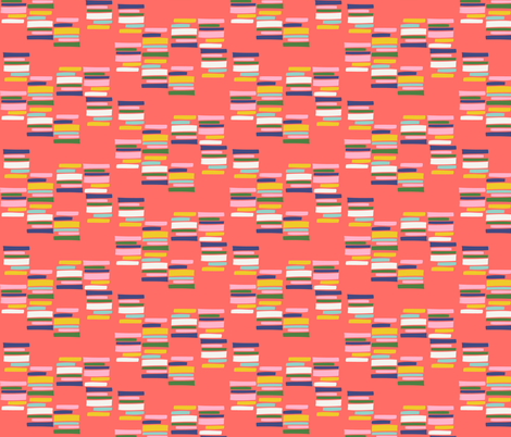 Stacks (melon) fabric by heidikenney on Spoonflower - custom fabric