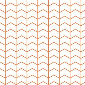 Chevron // white on orange