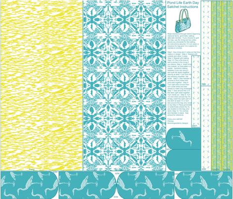 Pond Life Earth Day Satchel Cut and Sew fabric by bloomingwyldeiris on Spoonflower - custom fabric