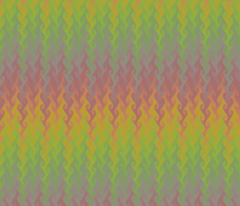 vintage rainbow flame chevron fabric by weavingmajor on Spoonflower - custom fabric