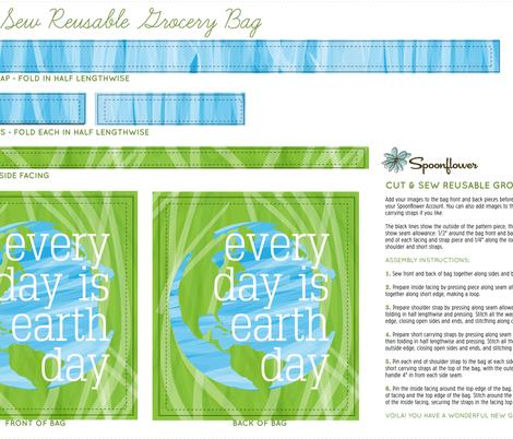 earthday totebag fabric by terrih on Spoonflower - custom fabric