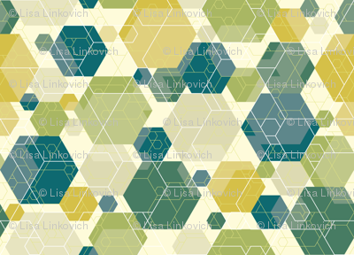Hexagon melange, green