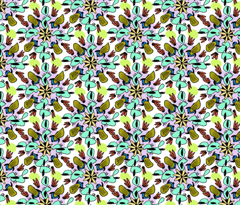 kaleido-doodle fabric by darcibeth on Spoonflower - custom fabric