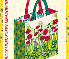 Cut & Sew Poppy meadow tote
