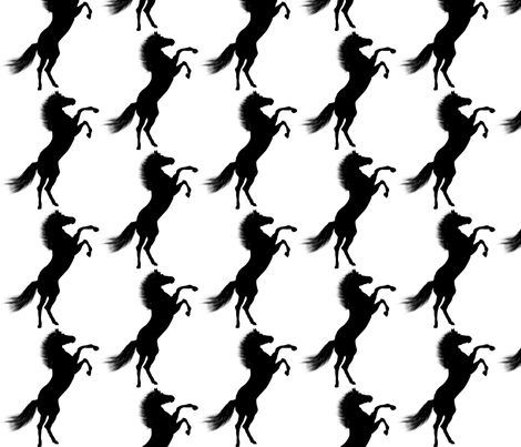 horse fabric by arrpdesign on Spoonflower - custom fabric