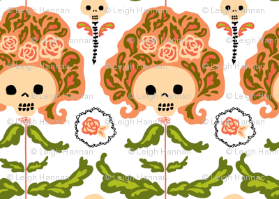big hair skelly flowers