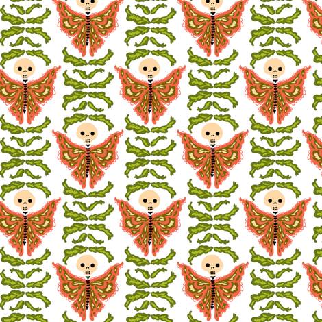 butterfly garden fabric by skellychic on Spoonflower - custom fabric