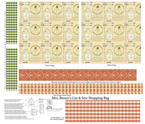 Mrs Browns Cut & Sew Shopping Bag fabric by lana_gordon_rast_ on Spoonflower - custom fabric