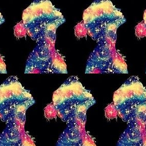 hipster magic galaxy girl