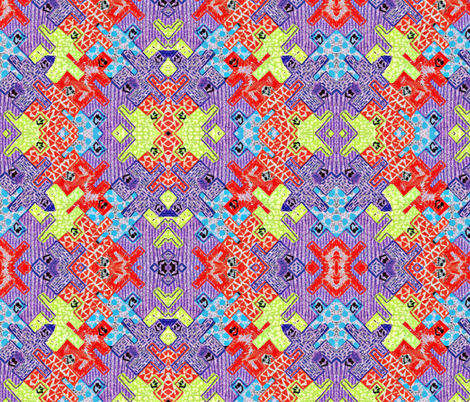 Crayon Monsters fabric by ccogburn on Spoonflower - custom fabric