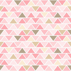 Girly Pink and Brown Geometric Fat Triangles