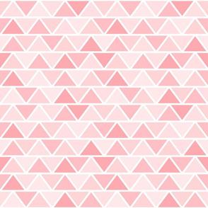 Girly Pink Geometric Fat Triangle Pattern