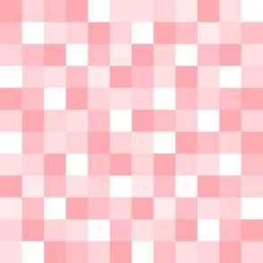 Girly Pink Geometric Pixel Square Pattern