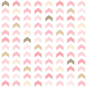 Girly Pink and Brown Geometric Split Chevron Pattern