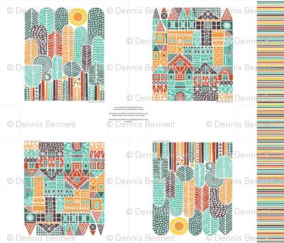 houses&trees tote bag