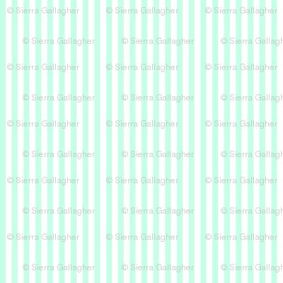 Mint Stripes 1/2 Inch Vertical