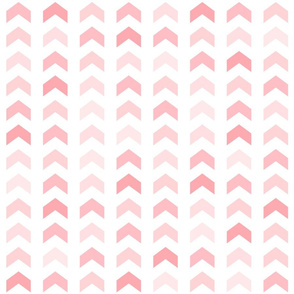 Girly Pink Geometric Split Chevron Pattern