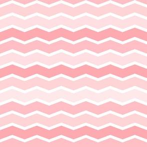 Girly Pink Geometric Thin Chevron Pattern