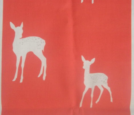 Woodland Fawns Red