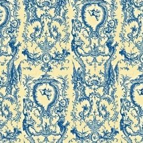 Cupid Toile Blue