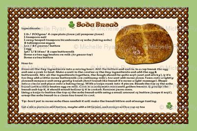 Mom's Recipes - Soda Bread Tea Towel