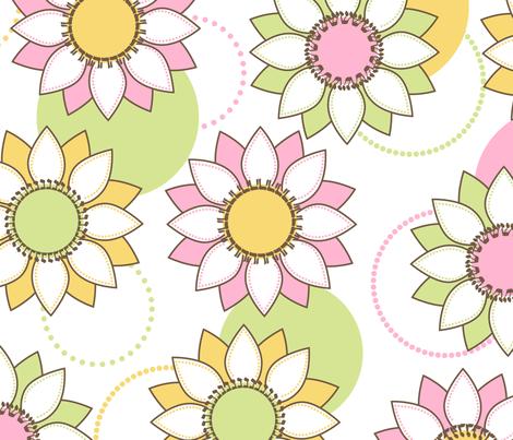 Lilypad Dreidels  fabric by themazelblog on Spoonflower - custom fabric