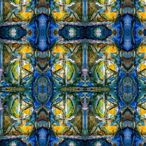 watercolor pattern indigo | dark version