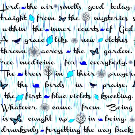 Lord the air smells good fabric by keweenawchris on Spoonflower - custom fabric