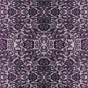 Black and radiant orchid lace